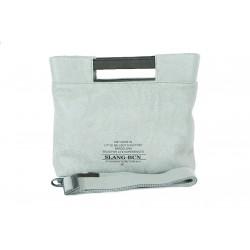 Complementos Slang Barcelona bolso gris con asa y tira - Querol online