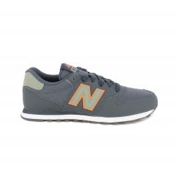 Zapatillas deportivas New Balance 500 azules, verdes y naranjas con cordones - Querol online