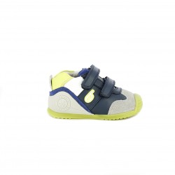 Zapatillas Biomecanics azules, verdes, grises y blancas - Querol online