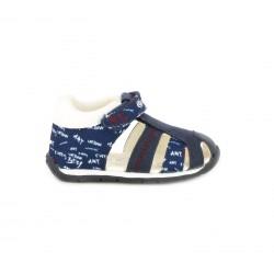 sandalias Geox azules cerradas estampadas con suela de piel - Querol online