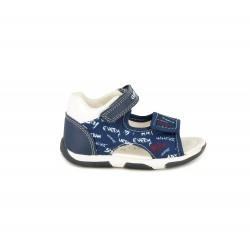 sandalias Geox azules estampadas con suela de piel - Querol online