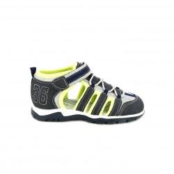 sandalias Sprox cerradas azules, grises y amarillas con velcro y elásticos - Querol online