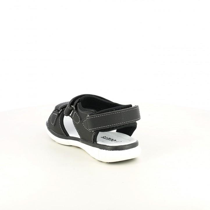 sandalias Gioseppo cerradas azules y grises con doble velcro - Querol online