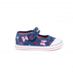 Merceditas Pablosky azules tejano con mariposas - Querol online