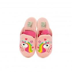 Zapatillas casa Vul·ladi rosas con unicornio y elástico - Querol online