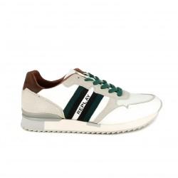 Zapatillas deportivas Replay blancas, verdes y marrones - Querol online
