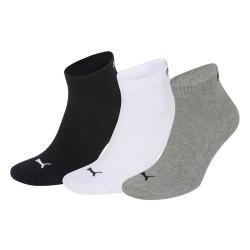 Complementos Puma pack 3 calcetines negros, blancos y grises bajos - Querol online
