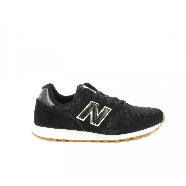 Zapatillas deportivas New Balance 373 negras y blancas - Querol online