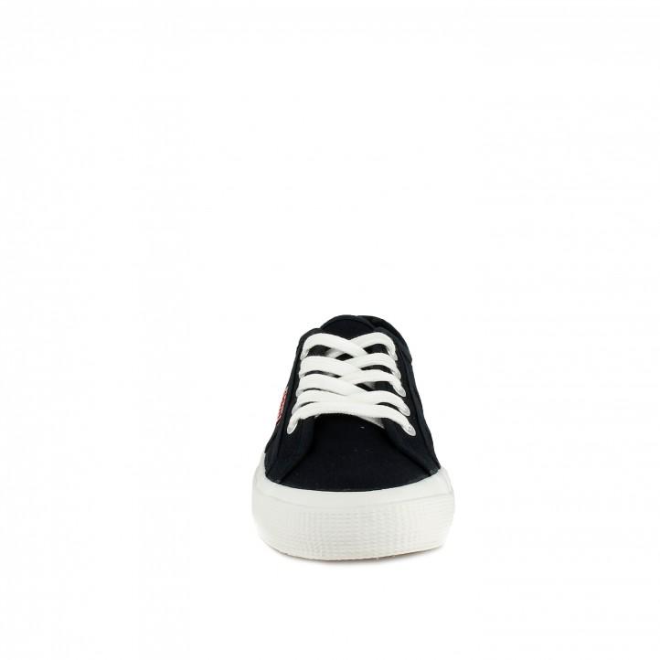 Zapatillas lona Redlove azules con cordones - Querol online