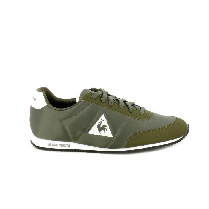 Zapatillas deportivas Le Coq Sportif verdes de cordones con detalles blancos - Querol online