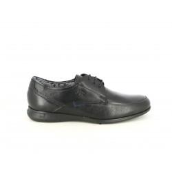 Zapatos vestir Fluchos bluchers de piel negros - Querol online