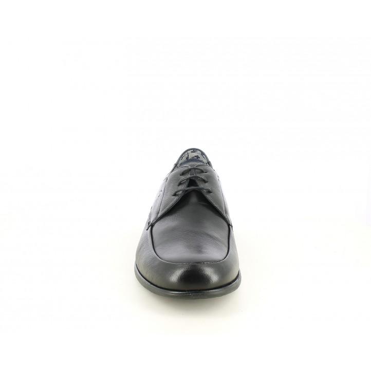 Sabates vestir Fluchos bluchers de pell negres - Querol online