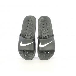 Chanclas Nike negras y blancas con logo - Querol online