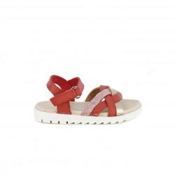sandàlies QUETS! vermelles amb detall de trena i velcro - Querol online