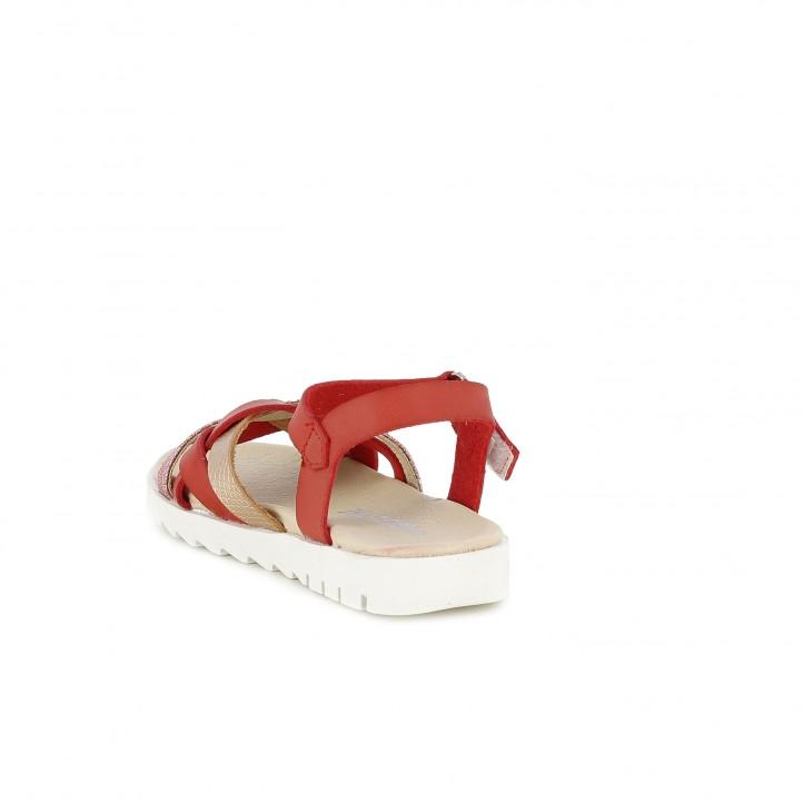 sandalias QUETS! rojas con detalle trenzado y velcro - Querol online