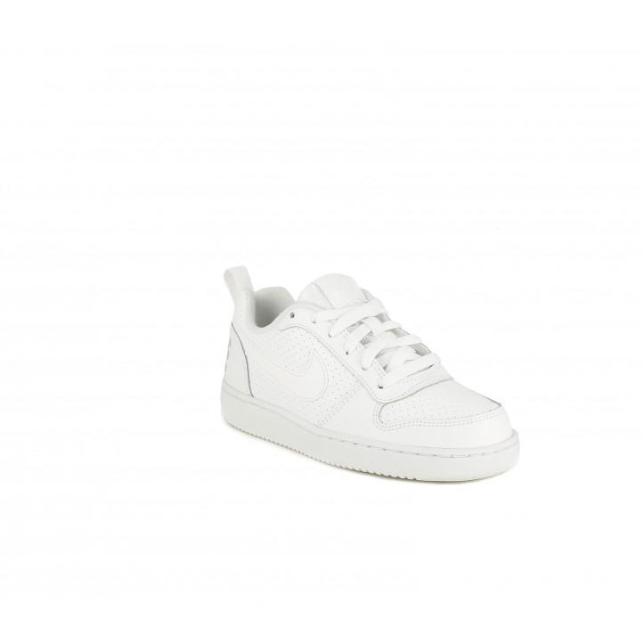 Zapatillas deporte Nike blanca y grises - Querol online