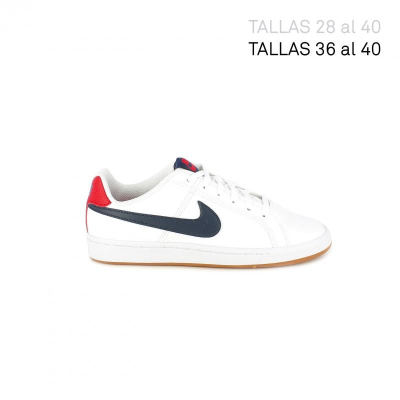 Corresponsal Fondos proposición  Zapatillas deporte court royale con detalles rojo y azul Nike | Querolets