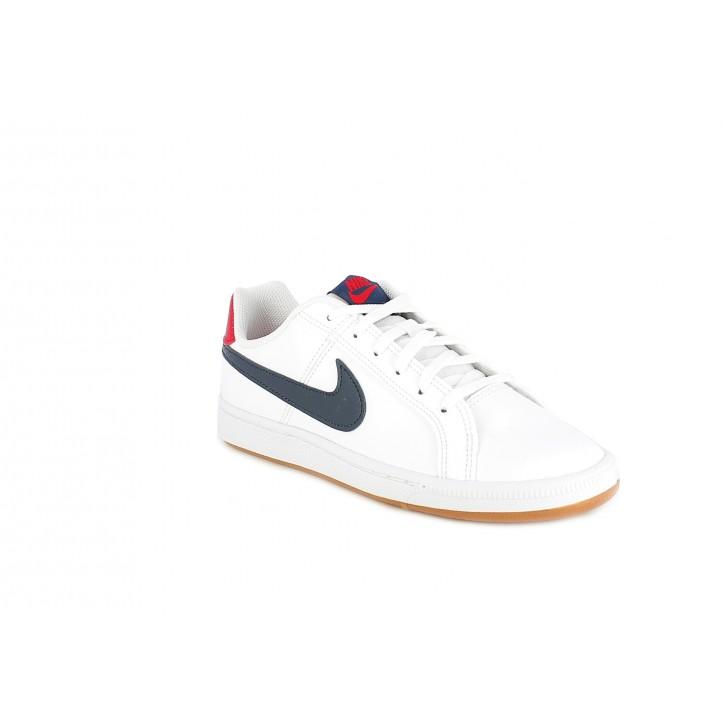 Zapatillas deporte Nike court royale con detalles rojo y azul - Querol online