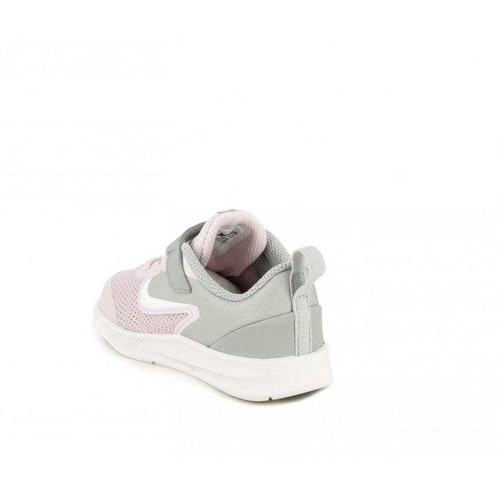 Sabatilles esport Nike rosa i gris amb sola flexible - Querol online