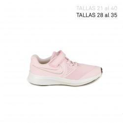 Sabatilles esport Nike star runner rosa amb detalls grisos