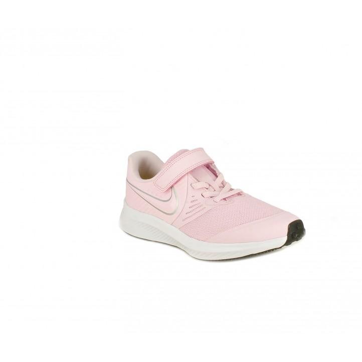 Zapatillas deporte Nike star runner rosa con detalles en gris - Querol online