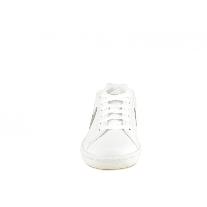 Zapatillas deportivas Nike court royale blancas con logo y plata - Querol online