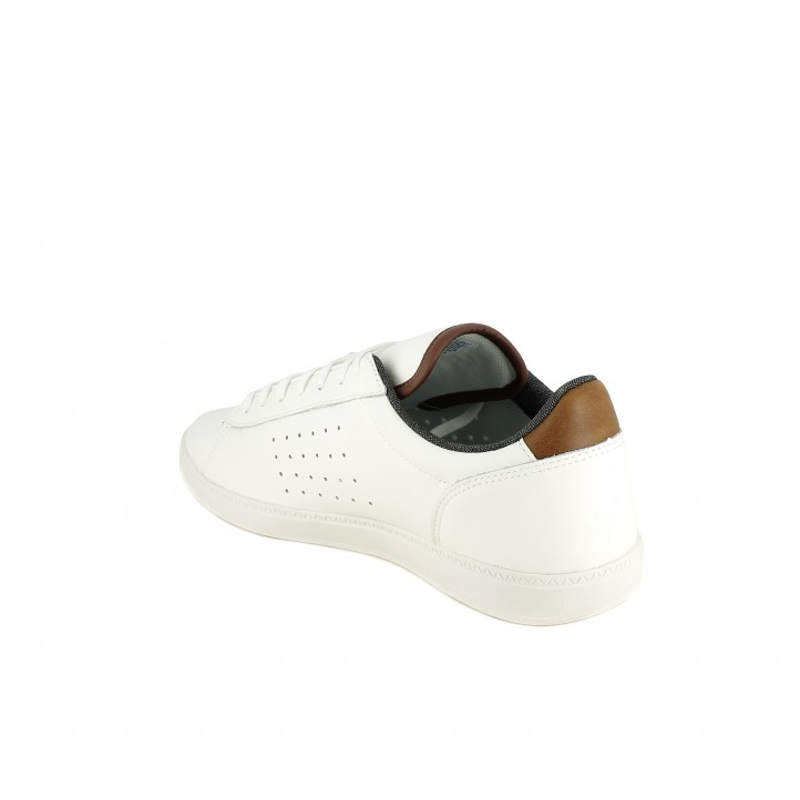 Zapatillas deportivas Le Coq Sportif Blanca con detalles en marrón y gris - Querol online