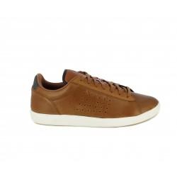 Zapatillas deportivas Le Coq Sportif marron con detalles en gris - Querol online