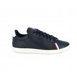 Zapatillas deportivas Le Coq Sportif azul marino con logotipo grabado y bandera francesa - Querol online