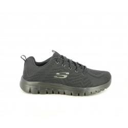 Zapatillas deportivas Skechers con cordones suela flexible y platilla memory foam - Querol online