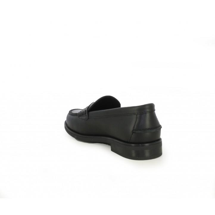Zapatos Pablosky mocasines de piel negros - Querol online