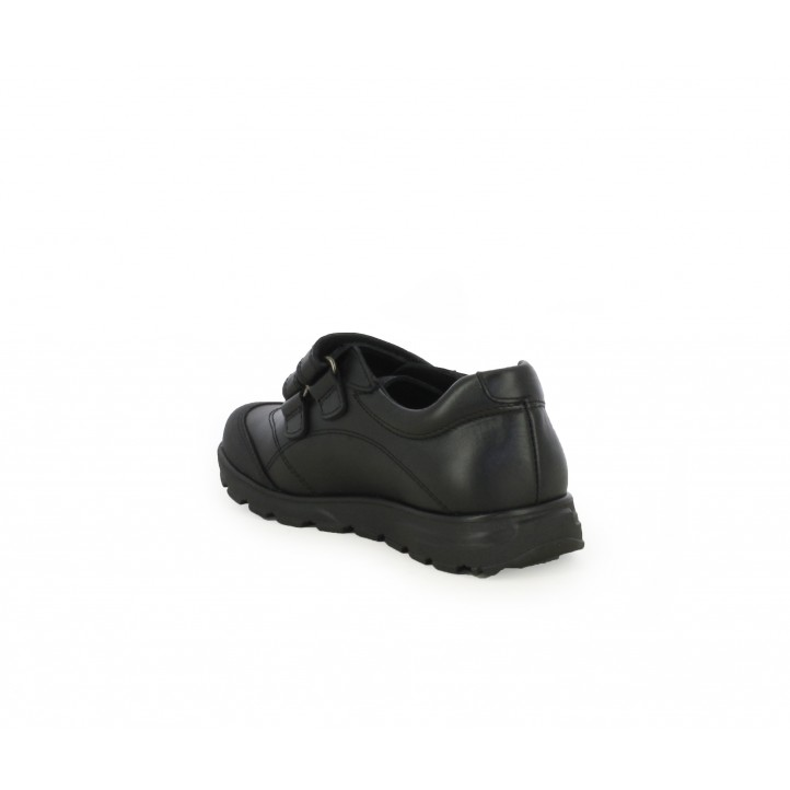 Zapatos Pablosky negros de piel con doble velcro - Querol online