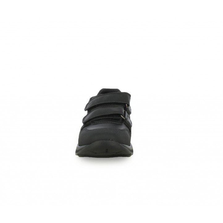 Zapatos Pablosky de piel negros con dos velcros - Querol online
