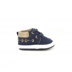 Zapatos Chicco azules estilo náutico con tiras elásticas - Querol online