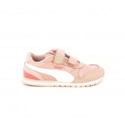 Zapatillas deporte Puma con contrafuerte en charol rosa