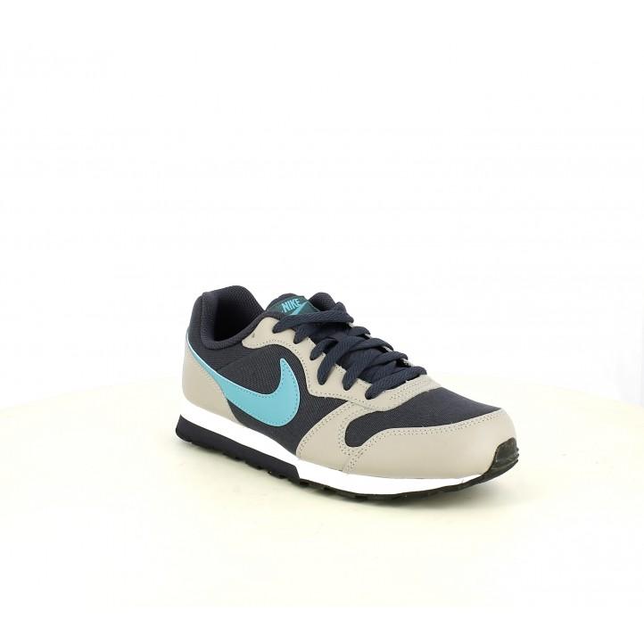 Zapatillas deporte Nike MD RUNNER 2 gris, negra y azul - Querol online