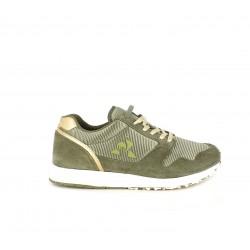 Zapatillas deportivas Le Coq Sportif combinación nylon y cuero sintético con cordones planos metálicos - Querol online