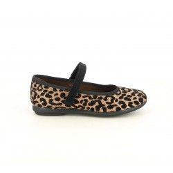 Merceditas Duvic estampado brillante de leopardo