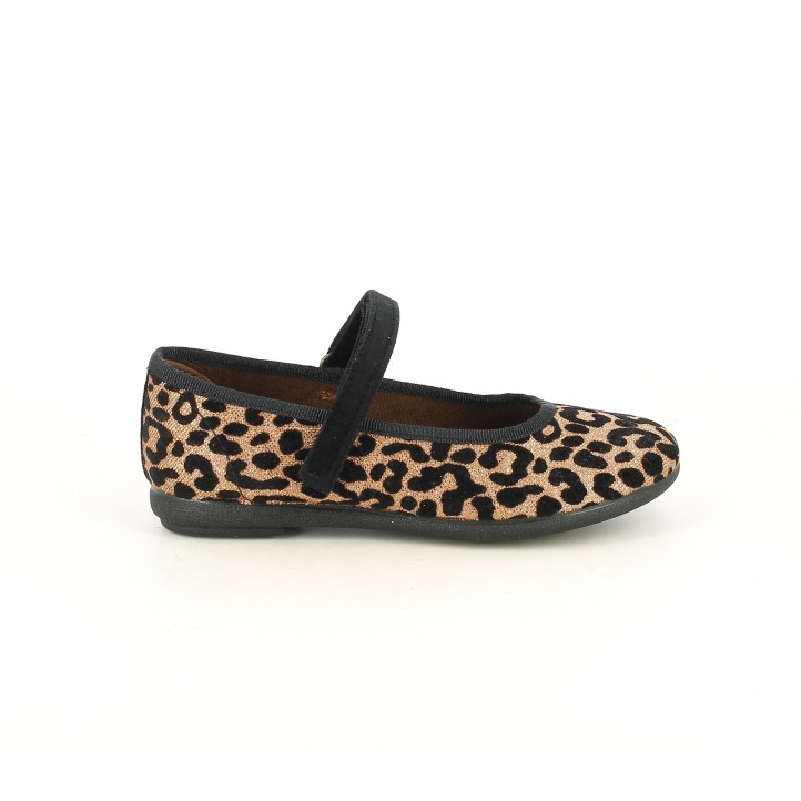 Merceditas Duvic estampado brillante de leopardo