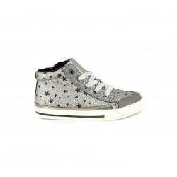 Botines Chicco grises con estampado de estrellas y cremallera interior - Querol online