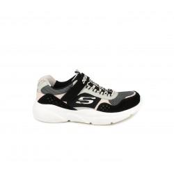 Zapatillas deporte Skechers con cordones elásticos, velcro y planttilla memory foam - Querol online