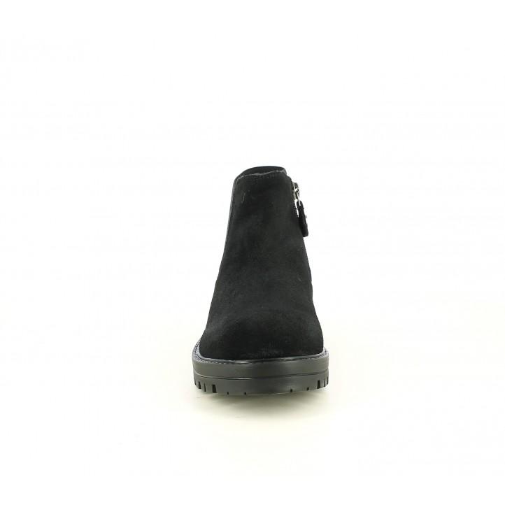 Botines Gioseppo negro con elástico en purpurina al tono - Querol online
