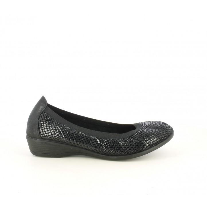 Ballarines Vul·ladi negre amb teixit brillant - Querol online