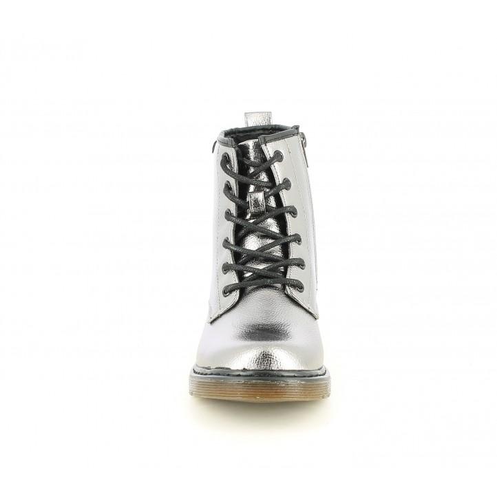 Botines XTI KIDS metalizado con cremallera lateral y suela de goma - Querol online