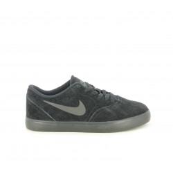 Zapatillas deportivas Nike sb check suede negras de piel