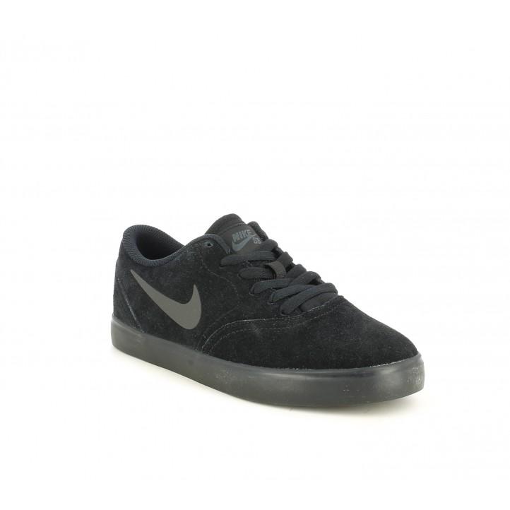 Sabatilles esportives Nike sb sheck suede pell i textil amb sola de goma negra - Querol online