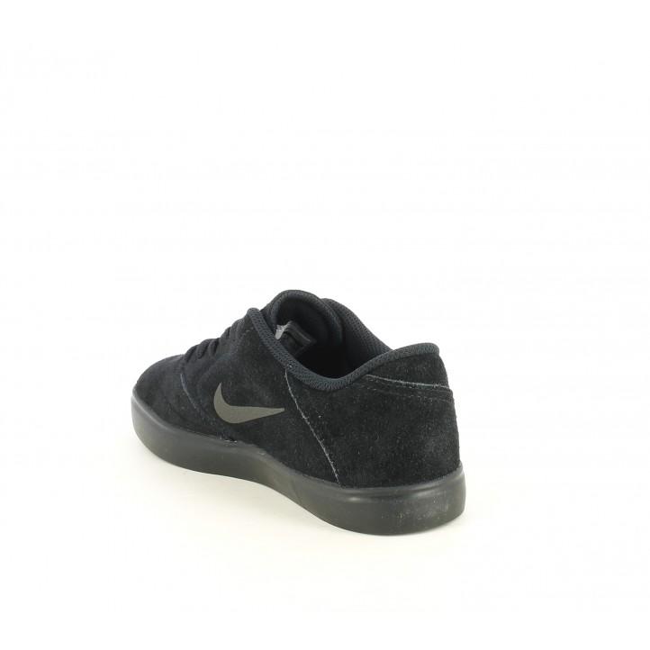 Zapatillas deportivas Nike sb sheck suede piel y textil con suela de goma negra - Querol online