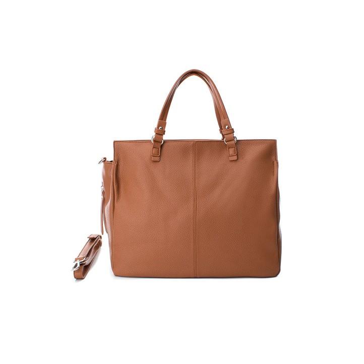 Complementos Xti bolso marrón con asas, bolsillo y cremallera lateral - Querol online
