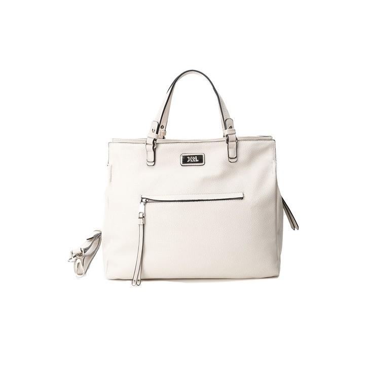 Complementos Xti bolso blanco con asas, bolsillo y cremallera lateral - Querol online