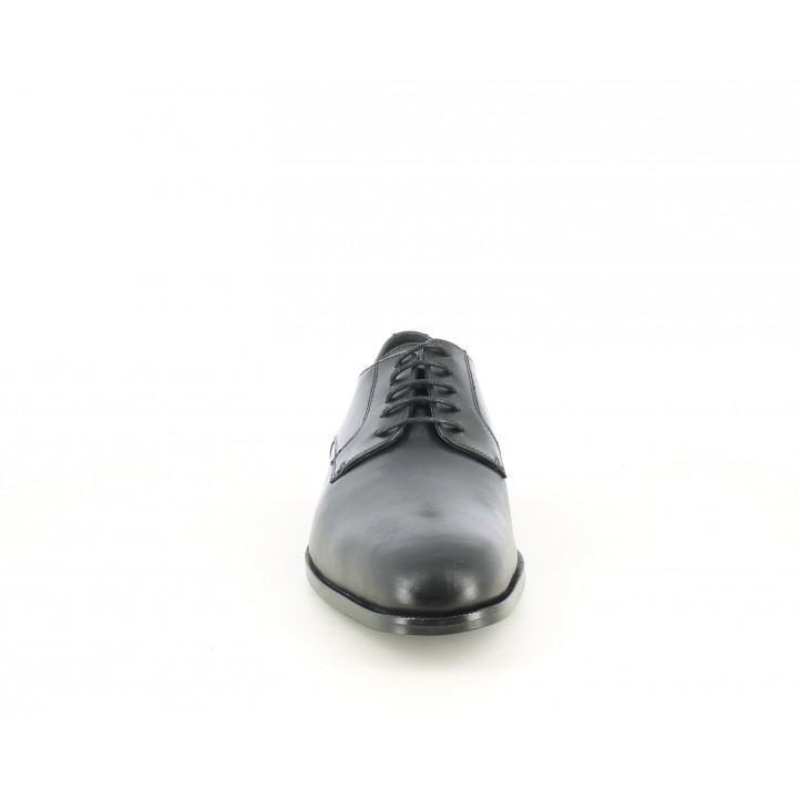Sabates vestir BE COOL bluchers negres de pell amb cordons - Querol online